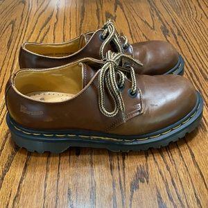 Dr Martens Vintage Brown Leather Oxford Shoes